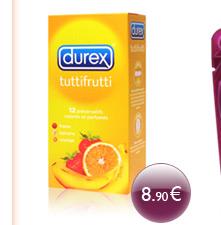 Durex TUTTIFRUTTI - 4 x 3 parfums