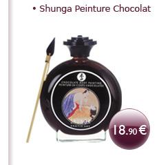 Peinture chocolatée pour le corps Shunga