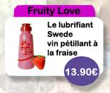 Lubrifiant Fruity Love Vin Pétillant à la Fraise