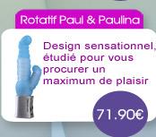 Vibromasseur Rotatif Paul & Paulina Bleu