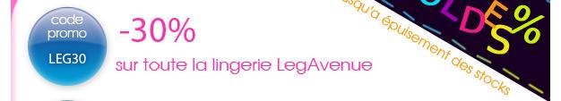 Soldes sur la Lingerie LegAvenue